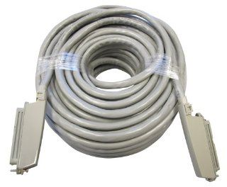 Allen Tel 25 3 CC 200 GY Plug In Connector Cable Patch Cord, 200 Foot Length, 90 Degree Female Connector At Both Ends   Electrical Cables