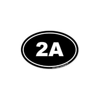 "2A Second Ammendment Pro Gun oval car bumper sticker 5"" x 3"": Automotive"