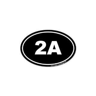 "2A Second Ammendment Pro Gun oval car bumper sticker 5"" x 3"": Automotive"