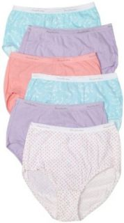Fruit of the Loom Women's 6 Pack Cotton Wardrobe Brief Panties, Assorted, 6 at  Women�s Clothing store: Briefs Underwear