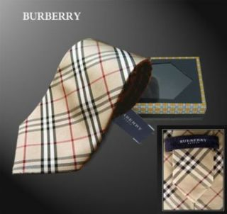 New Burberry Nova Check Silk Tie in Gift Box at  Men�s Clothing store