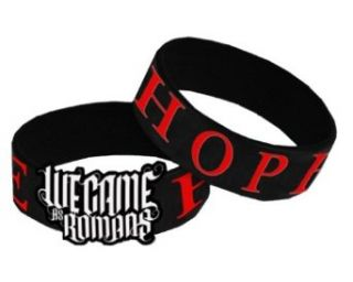 WE CAME AS ROMANS   Hope   Black Rubber Diecut Wristband Clothing