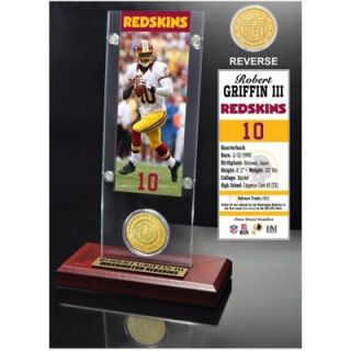 Robert Griffin III Washington Redskins Acrylic Desktop Ticket Display Case with Bronze Coin