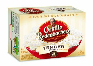 Orville Redenbacher's Gourmet Microwavable Popcorn, Tender White, 3 Count Boxes (Pack of 12) : Grocery & Gourmet Food