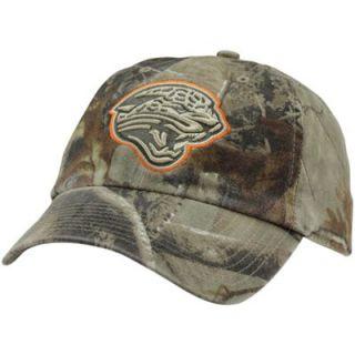 47 Brand Jacksonville Jaguars Clean Up Adjustable Hat   Realtree Camo/Orange