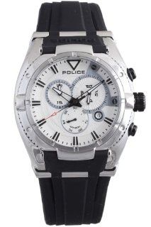 Police Men's PL 13092JS/04 Raptor Silver Chronograph Day Date Rubber Watch at  Men's Watch store.