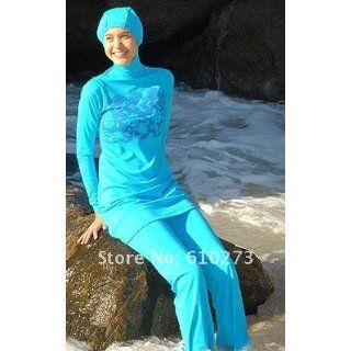 Fatima Modest Muslim Swimsuit  Islamic Modest Swimwear (Small): World Apparel: Clothing