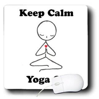 mp_123070_1 EvaDane   Funny Cartoons   Keep calm yoga on. Meditation Stick Figure. Yoga. Lotus Position.   Mouse Pads : Yoga Gifts : Office Products