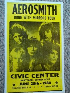 Aerosmith Done with Mirrors Tour Hartford ct Concert Poster   Prints