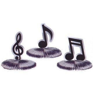 Musical Notes Mini Honeycomb 5in Decoration 3ct: Toys & Games