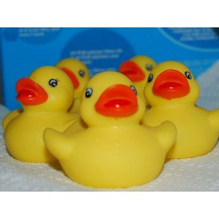 One Dozen (12) Rubber Duck Ducky Duckie Baby Shower Birthday Party Favors: Toys & Games