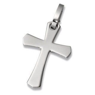 Stainless Steel Cross Pendant with G Lock Bail: Jewelry
