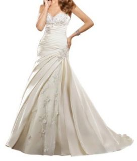 Jeen Wedding Dress Designer Stapless Mermaid Embroidery on net with Organza White 2: Clothing