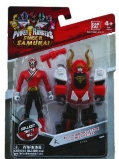 """Saban's Power Rangers Super Samurai Bull Megazord Armor With Mega Ranger 4"""" Fire: Toys & Games"""