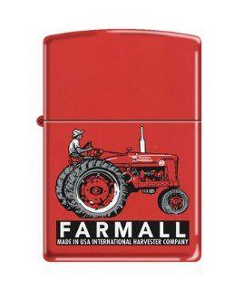 Zippo Custom Lighter   Farm with Farmall's Tractor Red Matte Logo Health & Personal Care