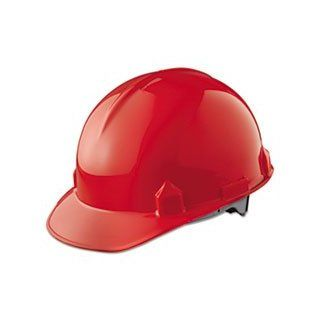 Jackson Safety 14841 SC 6 High Density Polyethylene Hard Hat with 4 Point Ratchet Suspension, Red (Pack of 12) Hardhats Industrial & Scientific