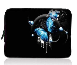"Blue Butterfly Universal Zip Bag 7"" Tablet Case Cover Sleeve for 7"" Samsung Galaxy Tab 2 Tab 3 ,Ipad Mini,Barnes & Noble NOOK Color Tab/Google Nexus 7, Kindle Fire HD ,HP Slate 7,Pendo Pad ,7 inch Pioneer Dreambook,Acer Iconia A100,BlackBerry"