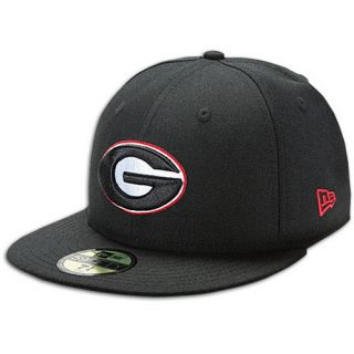 New Era 59Fifty College Cap   Mens   Basketball   Accessories   Georgia Bulldogs   Black