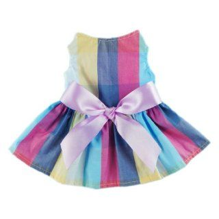 Adorable Rainbow Ribbon Dog Dress Dog Shirt Dog Clothes Pet Dress, Small  Pet Clothes For Small Dogs