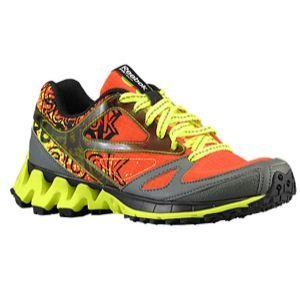Reebok ZigKick Trail 1.0   Boys Grade School   Running   Shoes   Foggy Grey/Black/Green Smash/Swag Orange