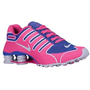 ... Nike Shox NZ Womens Running Shoes Dusty Grey/Brave Blue/Summit White/ Violet ...