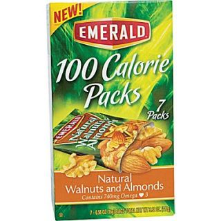 Emerald 100 Calorie Pack Walnuts and Almonds, .56 oz. Packs, 7 Packs/Box