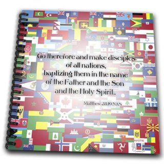 db_172009_1 777images Designs Graphic Design Bible Verse   Matthew 28v19 Go forth and make disciples of all nations   Drawing Book   Drawing Book 8 x 8 inch