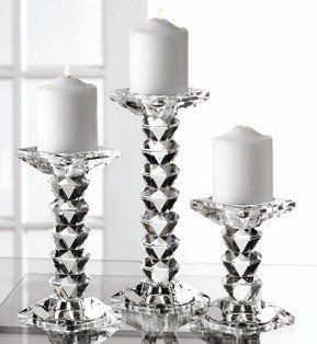 Fifth Avenue Crystal Westport Candle Holders, Set of 3   Candlestick Holders