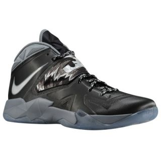 Nike Zoom Soldier VII   Mens   Basketball   Shoes   Black/Metallic Silver/Cool Grey/Pure Platinum
