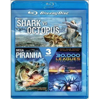 Mega Shark vs. Giant Octopus / Mega Piranha / 30,000 Leagues Under the Sea [Blu ray]: Deborah Gibson, Lorenzo Lamas, Sean Lawlor, Kim Little, Clint Browning, Paul Logan, Tiffany, Barry Williams: Movies & TV