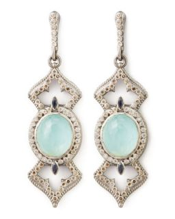 New World Elongated Diamond & _ Earrings   Armenta   Silver