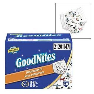 Huggies GoodNites Disposable Underpants for Boys (Size S M, Quantity 40) Baby