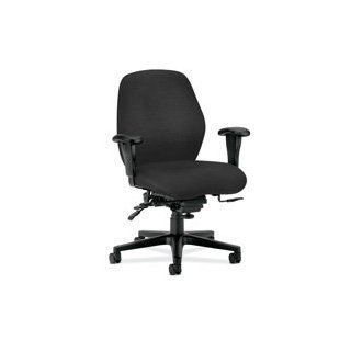 """HON Company Products   Mid Back Task Chair, 30 1/2""""x35""""x42"""", Wine   Sold as 1 EA   Mid back task chair features deeply contoured foam that supports the body for all day comfort. Control options encourage good posture. Curvilinear back has pr"""