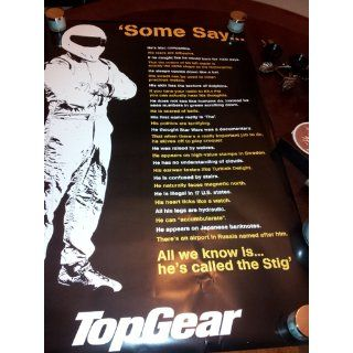 Top Gear, Some Say, The Stig, TV Poster Print   Stig Helmet