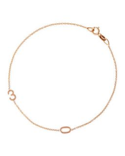 Mini 2 Number Bracelet, Rose Gold   Maya Brenner Designs   Rose gold (One Size)