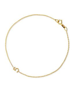 Mini Number Bracelet, Yellow Gold   Maya Brenner Designs   Gold (1)