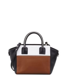 Logan Small Colorblock Tote Bag, Luggage   Milly