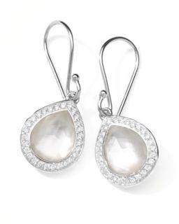Rock Candy Diamond Doublet Teardrop Earrings, 4/5L   Ippolita   Silver