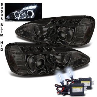 6000k Slim Xenon HID Kit+04 08 Grand Prix Halo LED Smoke Projector Head Lights: Automotive