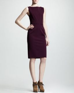 Womens Sleeveless Origami Dress   Lanvin   Plum colored (36/4)