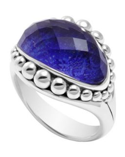 Silver Maya Lapis East West Dome Ring   Lagos   Silver (7)