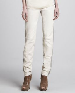 Womens Masako Two Tone Relaxed Leather Pants   J Brand Ready to Wear