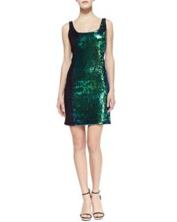 Womens Anna Sequin Tank Cocktail Dress   Milly   Iridescent blue (12)