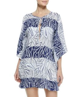 Womens Una Silk Caftan   Vix   Navy (MEDIUM)