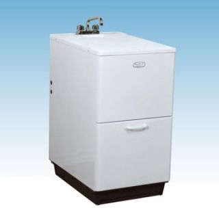 Large Plastic Sink : ... Free Standing Utility Sink with Backed Steel Cabinet Utility Sinks