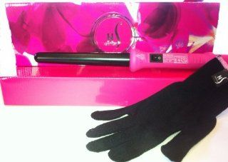 Herstyler Grande Pink Hair Professional Curling Iron (Pink Handle, Black Rod): Health & Personal Care