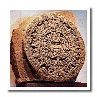 ht_86737_1 Danita Delimont   Mexico   Mexico City, Sun stone called Aztec calendar   SA13 MGL0000   Miva Stock   Iron on Heat Transfers   8x8 Iron on Heat Transfer for White Material Patio, Lawn & Garden