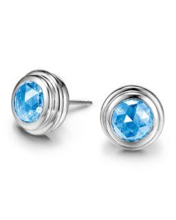 Batu Bedeg Swiss Blue Topaz Stud Earrings   John Hardy   Blue