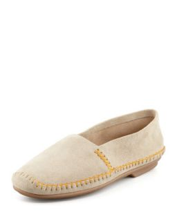 Davies Topstitched Moccasin   Jacques Levine   Sand (40.0B/10.0B)