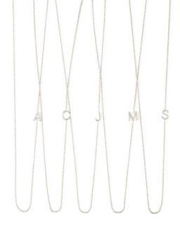 14k White Gold Mini Letter Necklace   Maya Brenner Designs   N (14k )